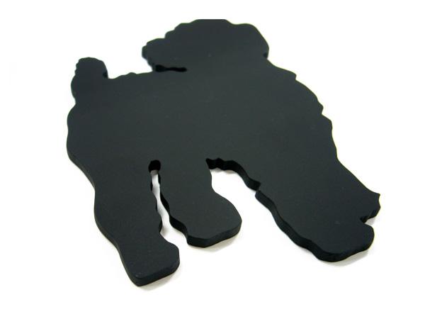 アイアン表札・追加用オブジェ/サビにくい鉄製ハンドメイド/動物・犬・プードル/obj-poodle