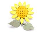 アイアン表札・追加用オブジェ/サビにくい鉄製ハンドメイド/植物・花・ヒマワリ/obj-sunflower