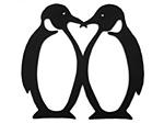 アイアン表札・追加用オブジェ/サビにくい鉄製ハンドメイド/動物・ペンギン/obj-penguin-2