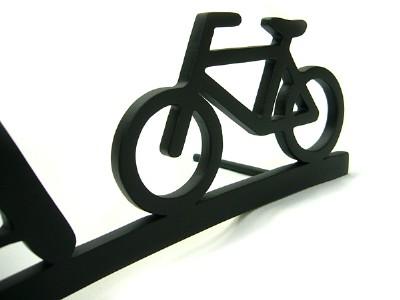表札 アイアン表札・アートカッティング表札/サビにくい鉄製ハンドメイド/自転車/st-10
