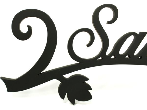 表札 アイアン表札・アートカッティング表札/サビにくい鉄製ハンドメイド/葉/st-19
