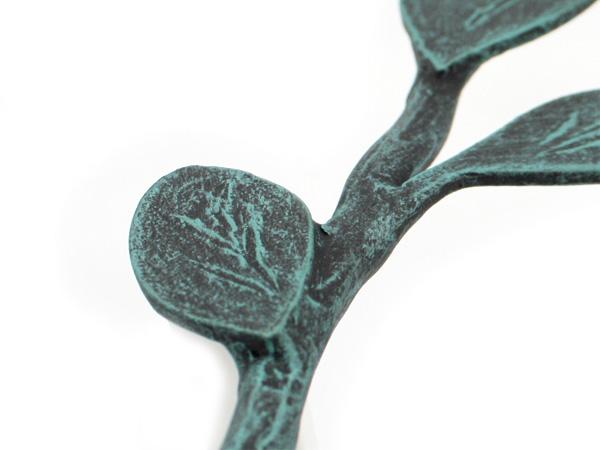 アイアン飾り/サビにくい鉄製ハンドメイド/植物・葉/tassel-leaf