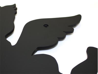 アイアン壁飾り/サビにくい鉄製ハンドメイド/天使・エンジェル/wo-angel
